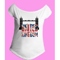 Camiseta Feminina G. Canoa Inglaterra Reino Unido Londres 11