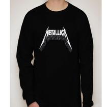 Camiseta Manga Longa Metallica - Camiseta De Rock