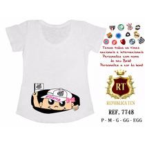 Camiseta Gestante Bebê Espiando Personalizada Time Santos