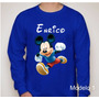 Camiseta Do Mickey Mouse Disney Infantil Personalizada Nome