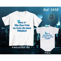 Tal Pai Tal Filho Camiseta Primeiro Dia Dos Pais Kit Com 2