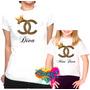 Camiseta - Camisa Personalizada Diva E Mini Diva A4 / 2pçs