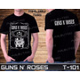 Guns N Roses Beatles Metallica Led Zeppelin Camiseta Preta