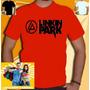 Camiseta Linkin Park Camisa Bandas Rock Vermelha Unissex