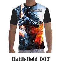 Camisa Camiseta Games Personalizada Batllefield Mod. 7 A 12