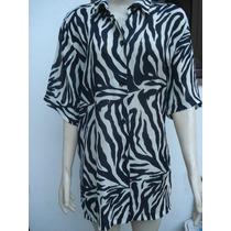 Blusa Estampa De Zebra Tam Gg