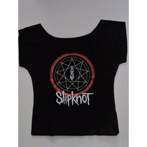 Blusinha Bata Cropped Slipknot - Disasterpieces - Power Rock