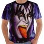 Camisa Camiseta Baby Look Regata Kiss Gene Simmons Color