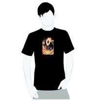 Camisa 100% Algodão- Caveira Motoqueiro Fantasma - Chamas