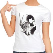 Camiseta Edward Mãos De Tesoura Em Poliester Ótima Qualidade