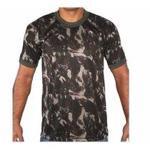 Camiseta Camuflada Dry Fit Bordada Exército Militar