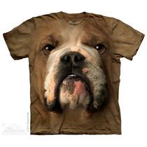 Camisa 3d Bulldog Face The Mountain Original