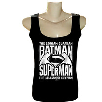 Camiseta Blusa Regata Feminina Bandas Filmes Batman Superman