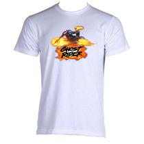 Camiseta Adulto Unissex Motoqueiro Fantasma Ghost Rider 06