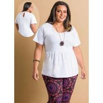 Blusa Branca Gordinha - Plus Size