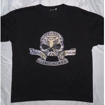 Camisa Camiseta Blusa Customiza Harley Davidson Skull Tribal