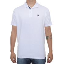 Camiseta Masculina Oakley Polo Essential Square Branca