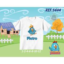 Camiseta Galinha Pintadinha Infantil Personalizada Com Nome