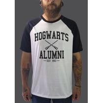 Raglan Harry Potter Camisetas Blusa Moletom Filmes Heróis