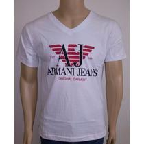 Camiseta Gola V Empório Giorgio Armani 100% Algodão