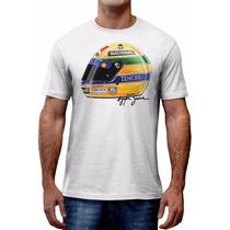Camiseta Ayrton Senna Capacete Formula 1 Gp - Asphalt
