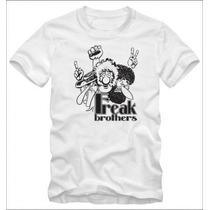Fabulous Freak Brothers Camiseta T-shirt Algodão Fio 30.1