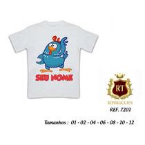Camiseta Infantil - Galinha Pintadinha - Pronta Entrega