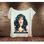 Blusa Feminina Gola Canoa Mulher Maravilha Wonder Woman Nova