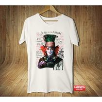 Camiseta Masculina Chapeleiro Maluco Johnny Depp Alice Marav