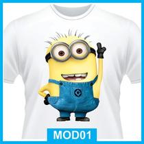 Camiseta Minions, Meu Malvado Favorito, Personagens Desenhos