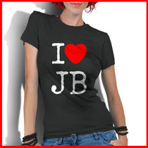 Camiseta Personalizada Feminina I Love Justin Bieber Jb
