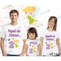Lebrança De Aniversário Sininho Camiseta 3 Uni