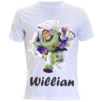 Camiseta Infantil Do Toy Story - Buzz Lightyea Com Nome