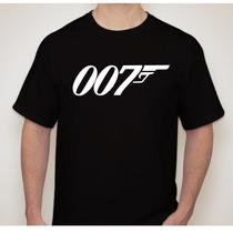Camiseta 007 - Fimes E Seriados - 100% Algodão E Qualidade