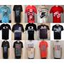 Kit C/30 Camisetas Masculinas De Marcas Famosas