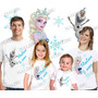 Lembrança De Aniversario Frozen Elsa Anna Camiseta Kit Com 4