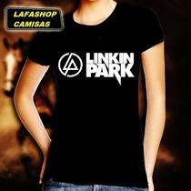 Camiseta Linkin Park Baby Look Feminina Banda Rock Camisa