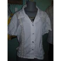 Blusa Camisa Branca Renda Bordados Lindissimas