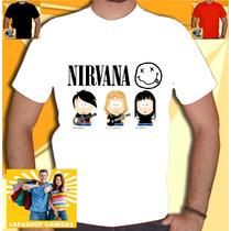 Camisa Nirvana South Park Camiseta Metallica Ramones Rock