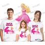 Lembrança De Aniversario Barbie Camiseta Kit Com 3