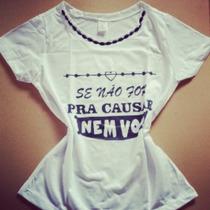 Blusa Com Bordados Tshirt Moda Blogueira