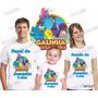 Camiseta Galinha Pintadinha Personalizada Aniversario Com 3