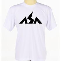 Camiseta Camisa Branca Estampada Banda De Axé Asa De Águia