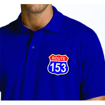 Camiseta Polo Bordada Route Gbn 153 101 376 Caminhoneiros