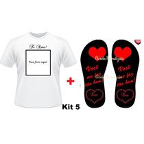Kit Presente Namorados Camiseta + Chinelo Personalizado