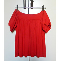 Blusa Feminina Vermelha Manga Bufante