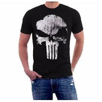Camisetas Super Heróis Vingadores Capitão América Justiceiro