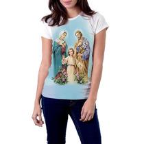 Camiseta Babylook Sagrada Família Religiosa Católica