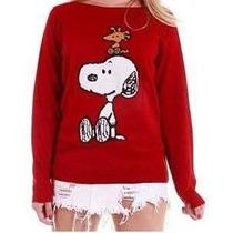 Blusa Agasalho De Frio Feminino Tricot Snoopy - Linda!