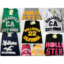 Kit 5 Camisetas Básicas Hollister Abercrombie Atacado